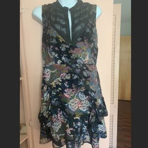 Free People Victorian Velvet Dress